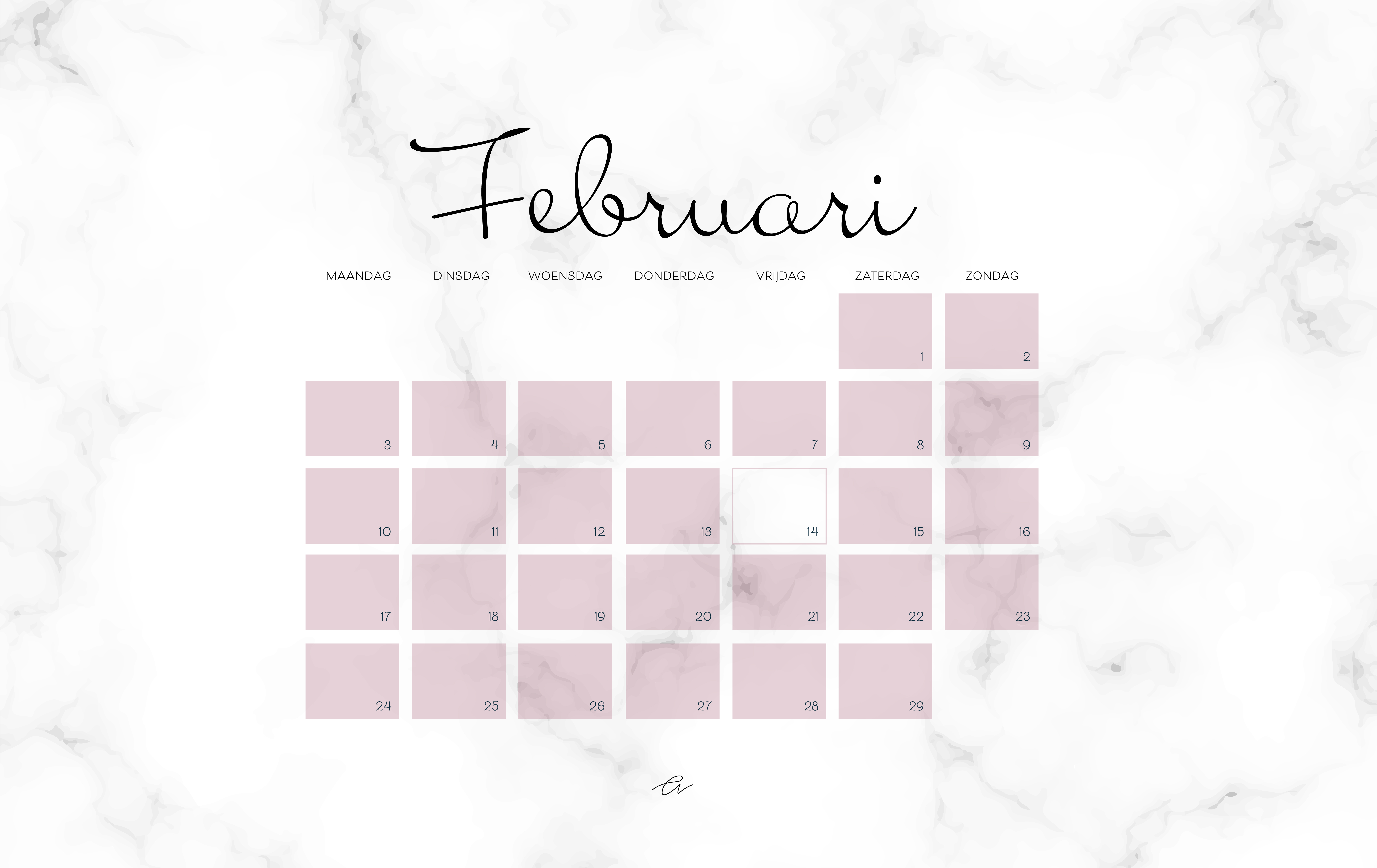 Screensaver februari