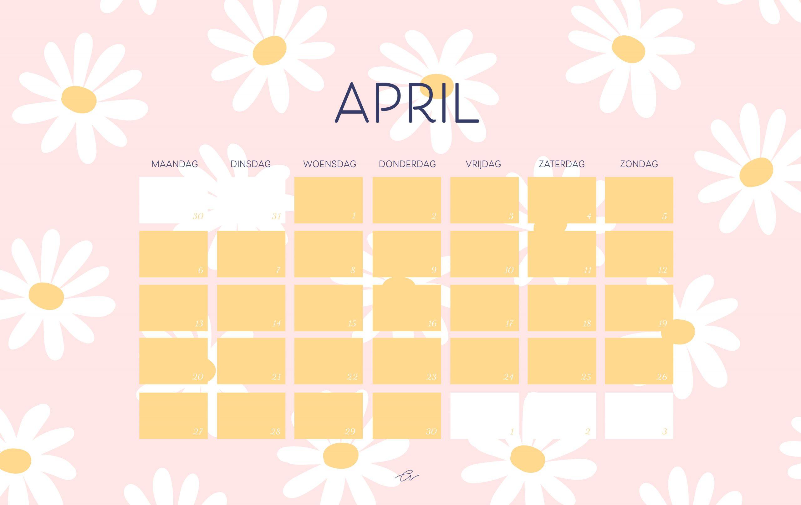 Wallpaper kalender april 2020