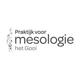 Logo ontwerp Praktijk voor Mesologie Zwart wit