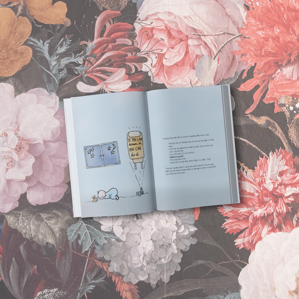 Boek ontwerp met illustratie ontwerp