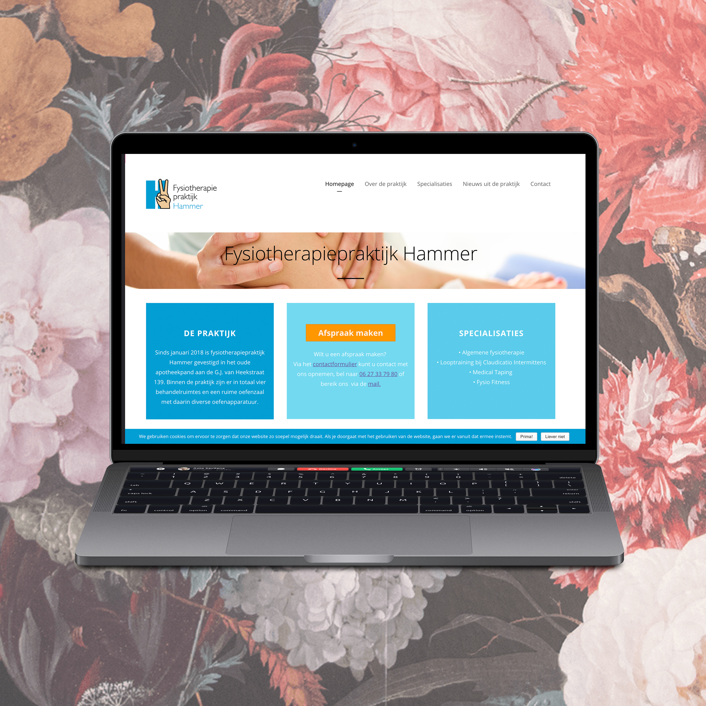 Website ontwerp Fysiotherapiepraktijk Hammer