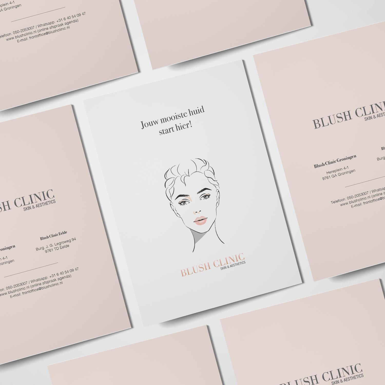 Ontwerp drukwerk Blush Skin Clinic