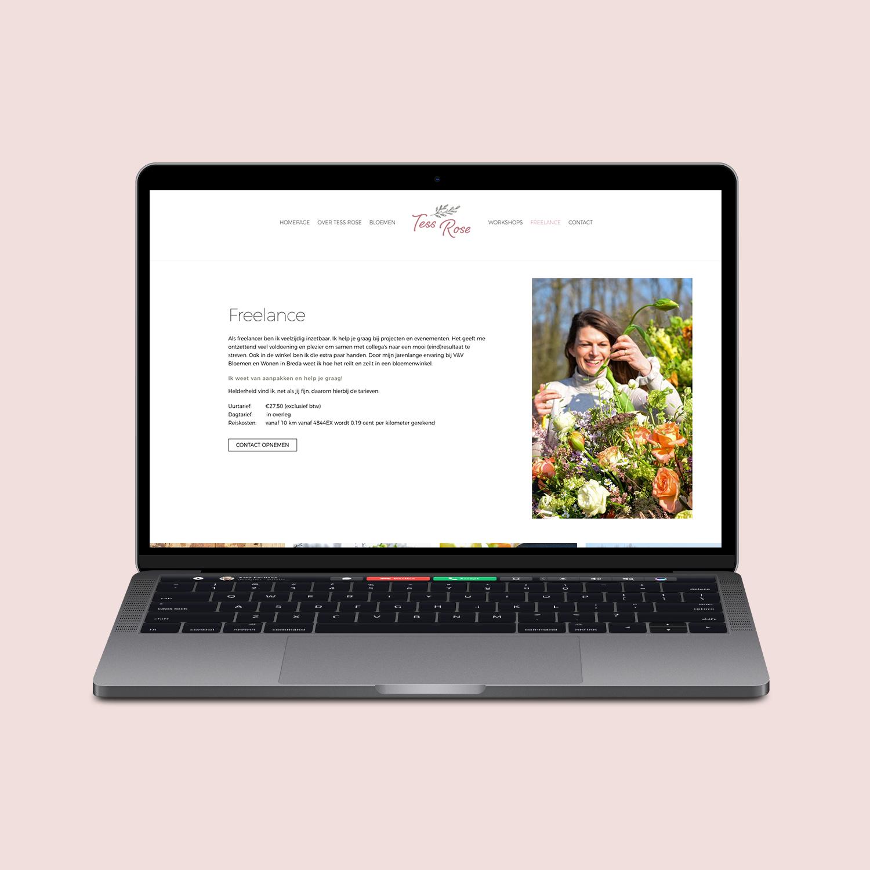 WordPress Website ontwerp Tess Rose
