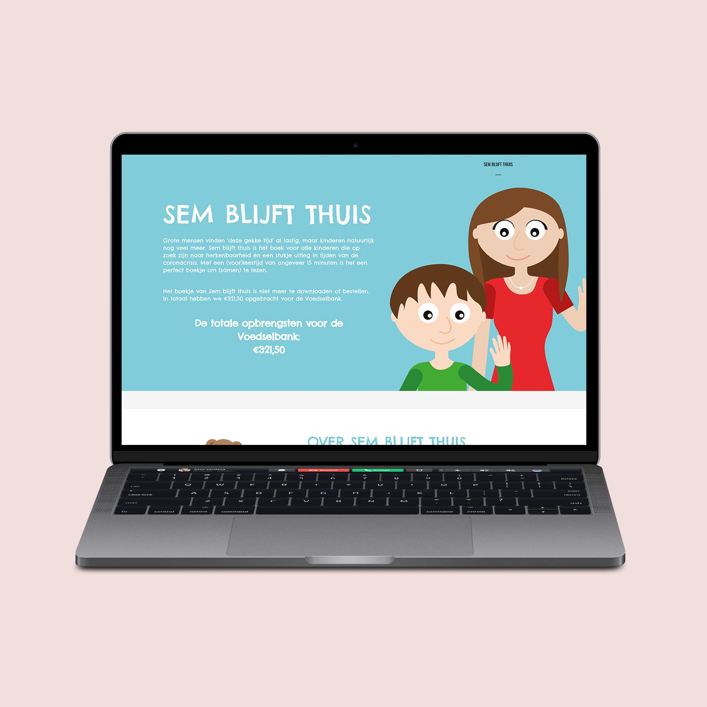 Website ontwerp Sem blijft thuis
