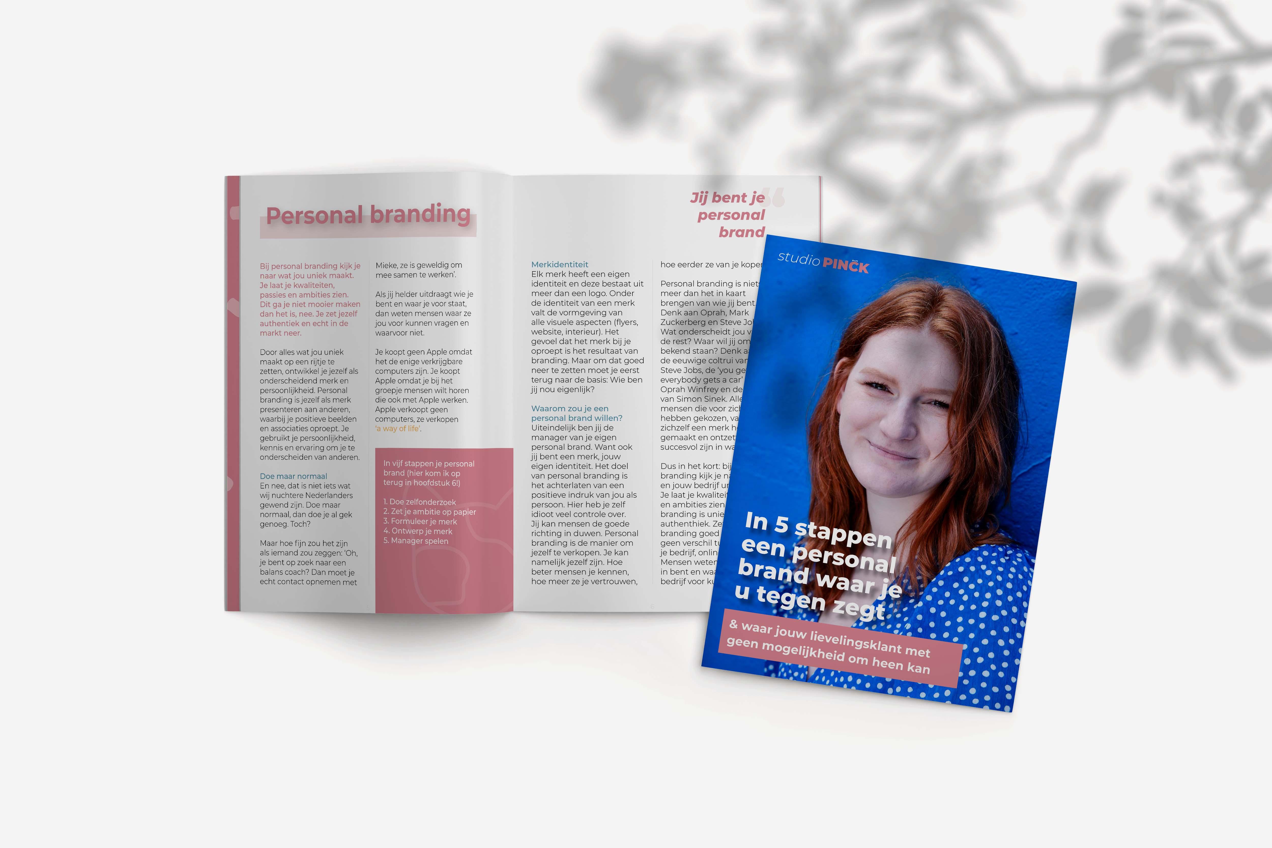 Mockup magazine personal branding